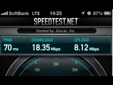 SoftBankのLTE 速度