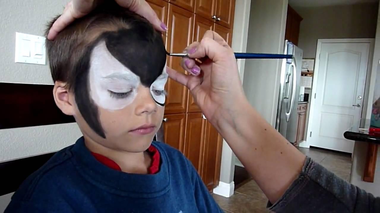 Black spiderman face painting youtube baditri Images