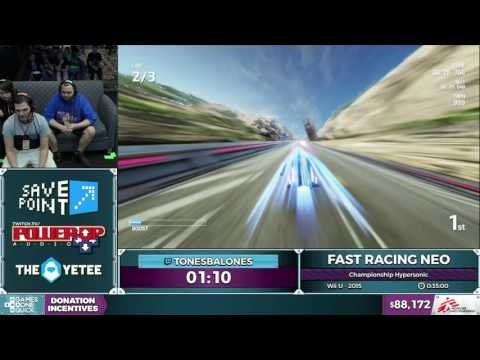FAST Racing NEO by TonesBalones in 0:26:31 - SGDQ2016 - Part 13