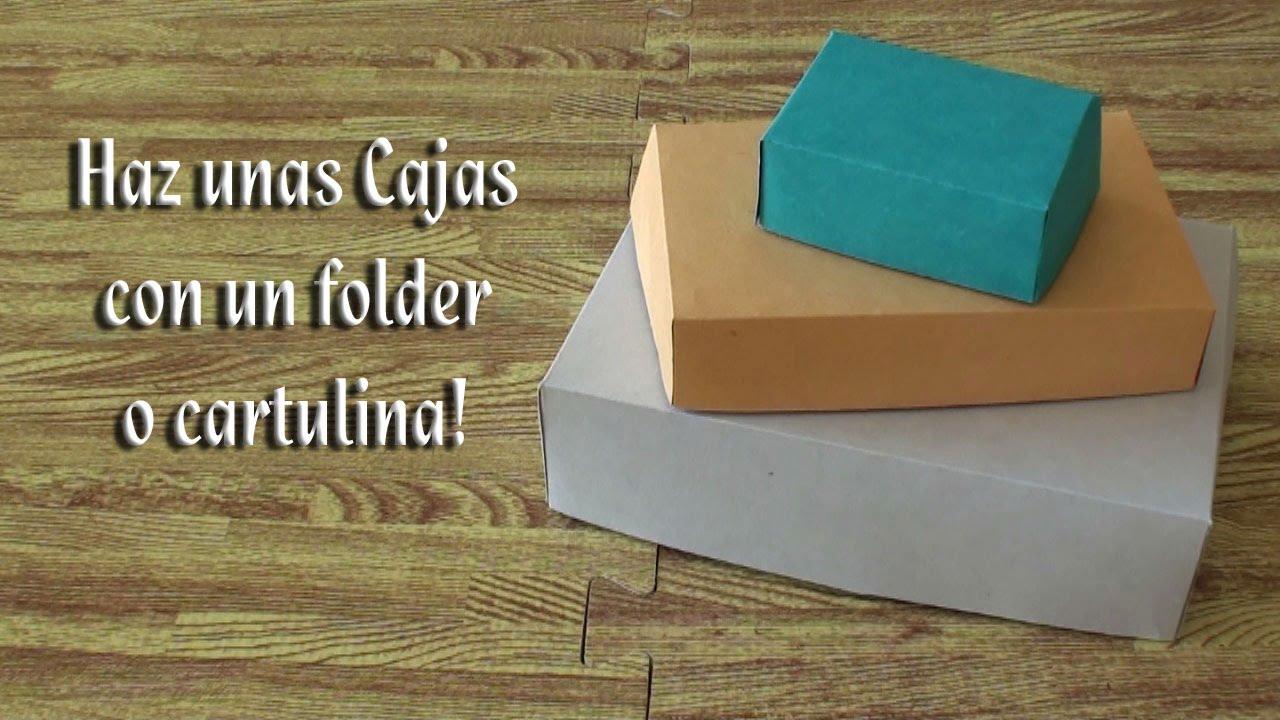 Como hacer unas cajitas con un folder o pedazos de - Como hacer cajas de cartulina ...