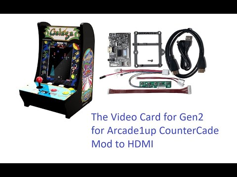 Video Card for Arcade1Up Gen2 Galaga Mod from Johnny Liu
