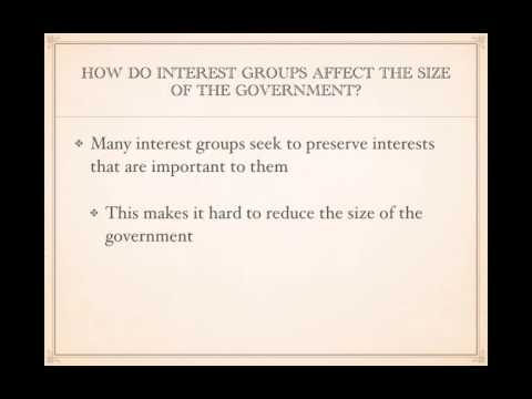 AP Gov Review: Video #19 - The Effects Of Interest Groups On The Political Process
