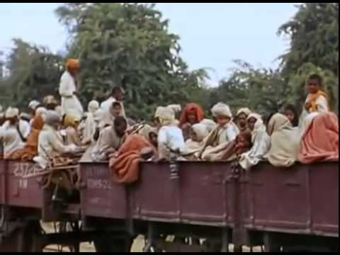 Rare Colour Footage 1947 India Pakistan Indipendence Partition- Sikhs March, Punjab on fire