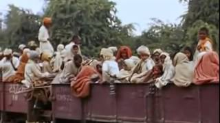 Rare Colour Footage 1947 India Pakistan ...