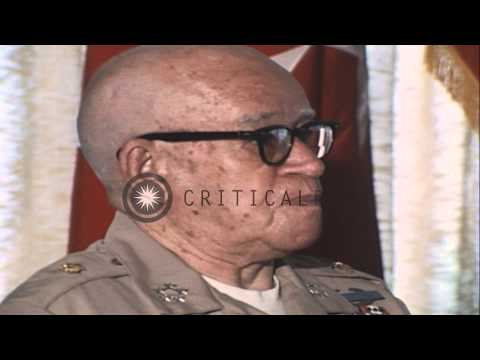 General Omar N. Bradley gives a brief speech during a formal lunch in Hawaii. HD Stock Footage