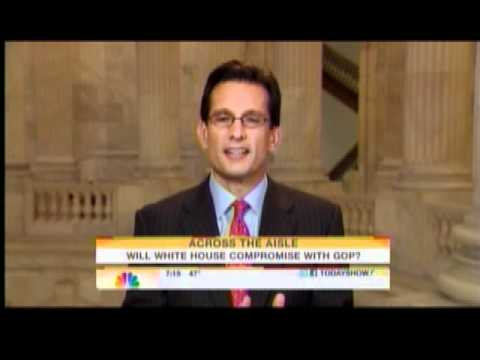 "Eric Cantor Talks Tax Rates & Meeting With President Obama On NBC's ""Today Show"""