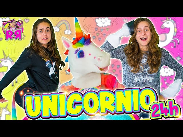 24 HORAS SIENDO UNICORNIO 🦄 Nos convertimos en unicornios un día 🍭 Comiendo comida de unicornio.