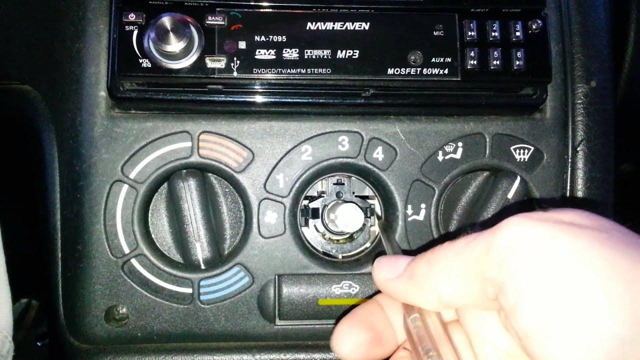 Wymiana żar 243 Wki Opel Astra F 1994 Podgrzewania Tylniej