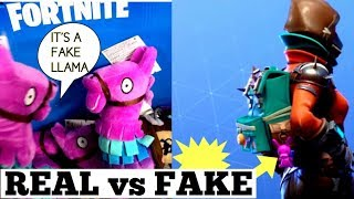 ONLY 1% of FORTNITE PLAYERS NOTICED! FORTNITE REAL VS FAKE LLAMA PLUSH