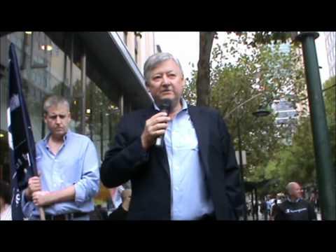 Dan Dwyer Telstra NGO Protest 17.2.2012