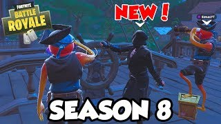 CAPTAIN DAD AND TWO PIRATE SONS in FORTNITE SEASON 8 BATTLE PASS SQUAD GAMEPLAY!!!