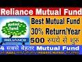 Reliance Mutual Fund - 30 % का  Return सालाना - Reliance Best mutual fund 2018  start form 500 Rs