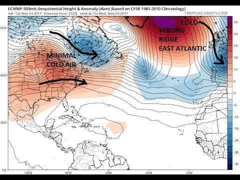 WEATHER PATTERN QUIET IN THE EAST UNTIL FURTHER NOTICE. EUROPE COLD AND SNOW COMING