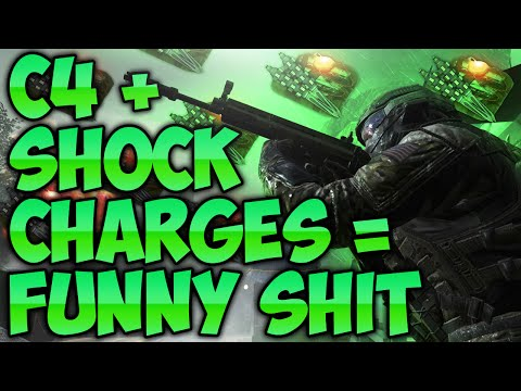 COD BO2 SHOCK CHARGE C4 FUNNY MOMENTS!