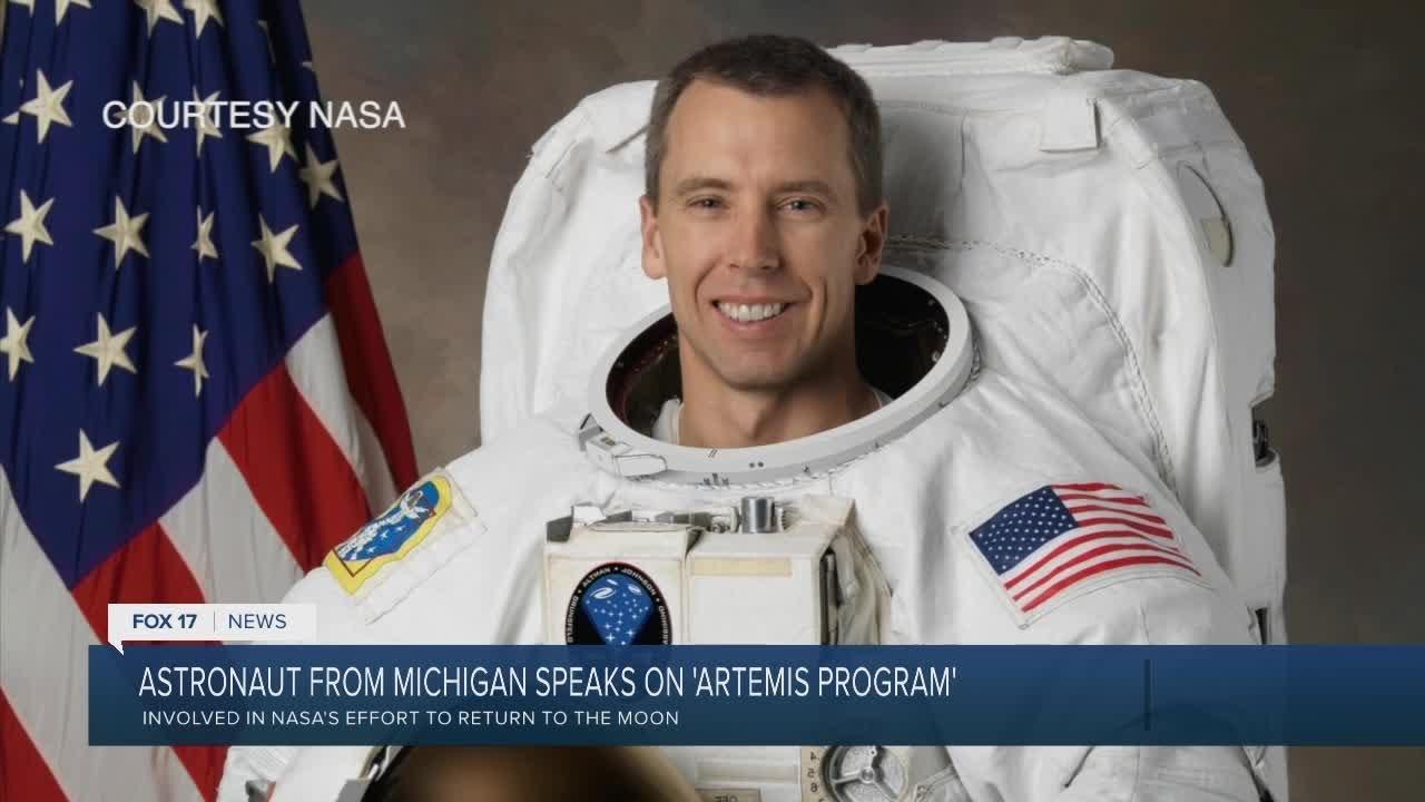 Astronaut from Michigan speaks on 'Artemis Program' - FOX 17 WXMI