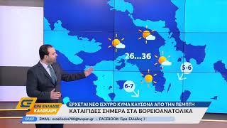 Καιρός 30/07/2019: Καταιγίδες σήμερα στα βορειοανατολικά - Ώρα Ελλάδος Καλοκαίρι | OPEN TV