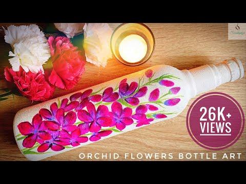 Orchid Bottle Art