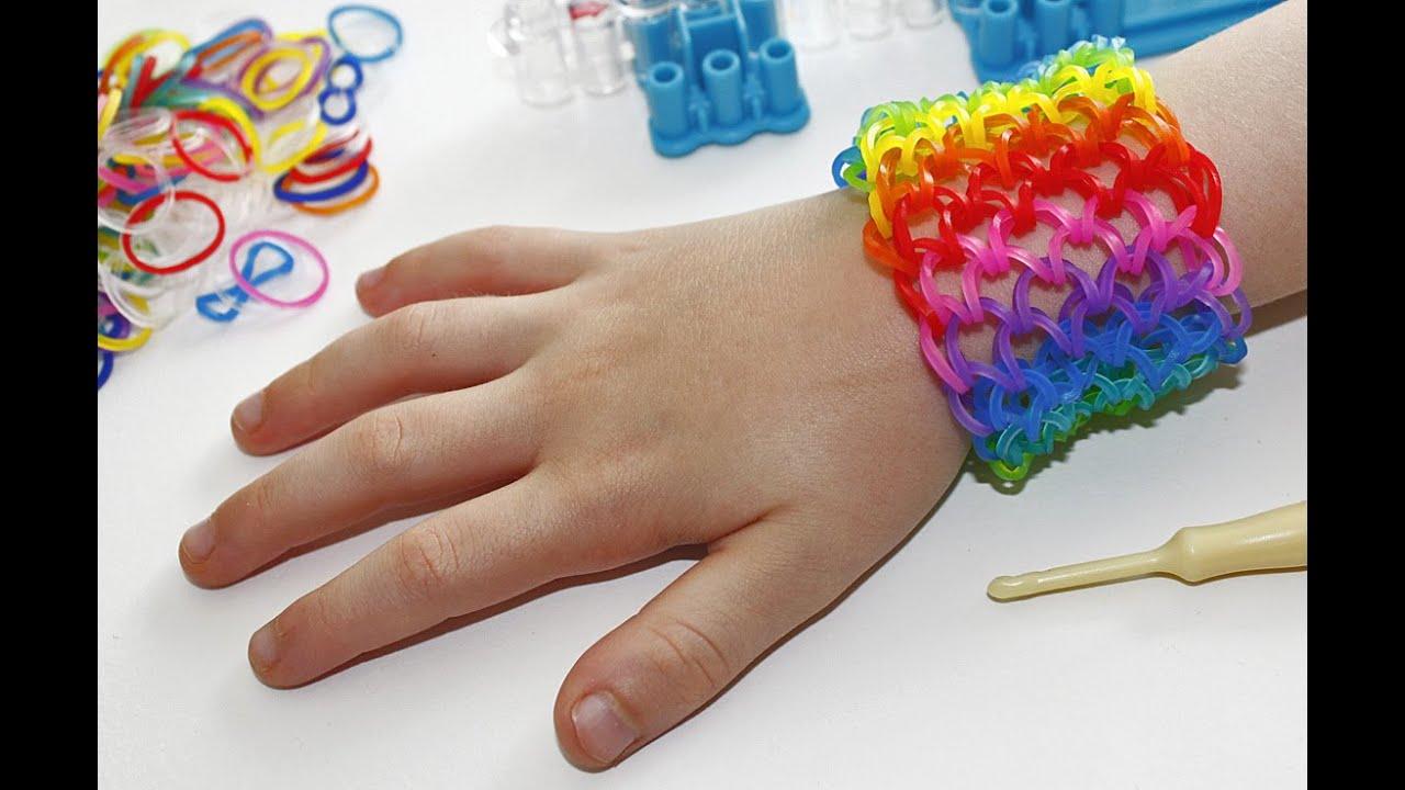 tuto bracelet lastique ecailles de dragon arc en ciel manchette rainbow loom en fran ais. Black Bedroom Furniture Sets. Home Design Ideas