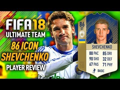 FIFA 18 ANDRIY SHEVCHENKO (86) *ICON* PLAYER REVIEW! FIFA 18 ULTIMATE TEAM!