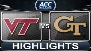 2013 ACC Football Highlights | Virginia Tech vs Georgia Tech | ACCDigitalNetwork