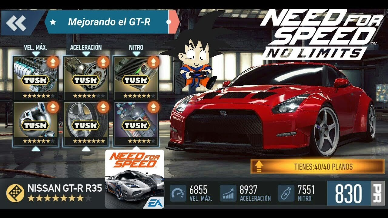 No Limits Garage : Need for speed no limits android nissan gt r fase