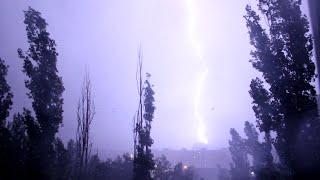 Сильная гроза в Воронеже / Severe thunderstorm; 25.06.2015