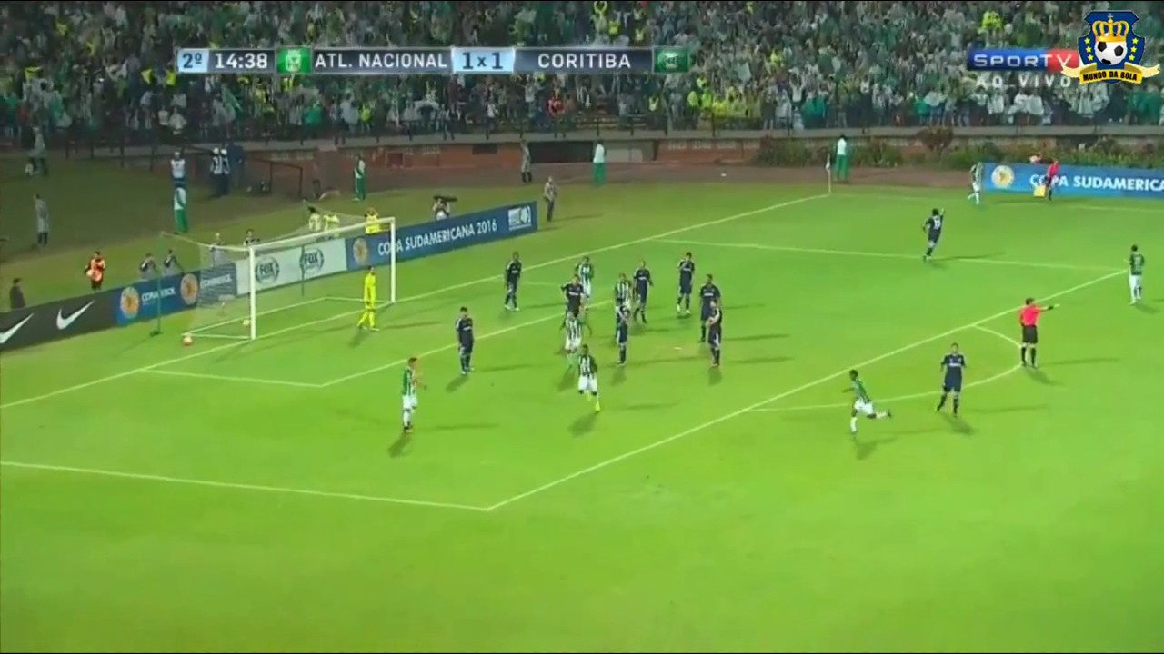 Download GOLAÇO DE BORJA! Atlético Nacional 3 x 1 Coritiba - Sulamericana 2016
