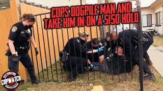 Cops Dogpile Distraught Man & Take Him in on a 5150 Hold   Copwatch