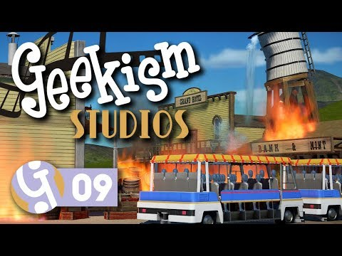 🎬 Western FX Show | Geekism Studios | Let's Play Planet Coaster #09