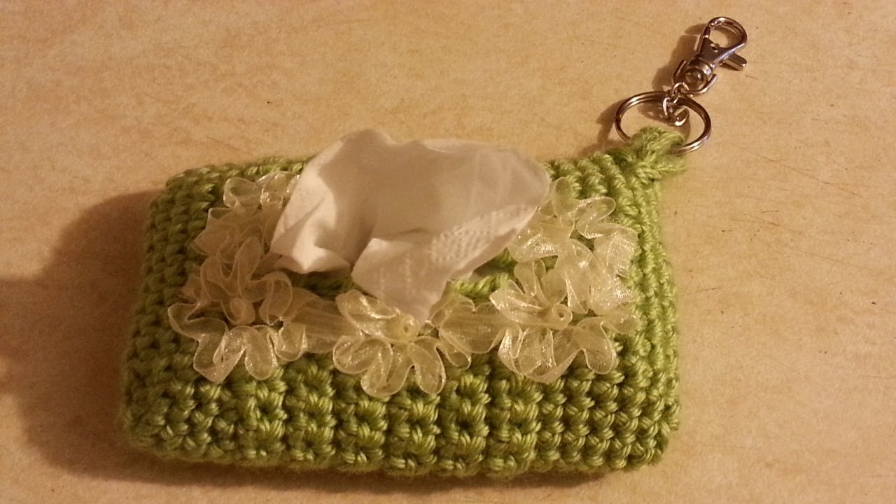 Knitting Pattern Tissue Holder : CROCHET How To #Crochet Little Tissue travel Holder # ...