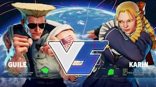 Street Fighter V: Sixecho (Guile) V IslandBoy (Karin) - Nemesis 43 SFV