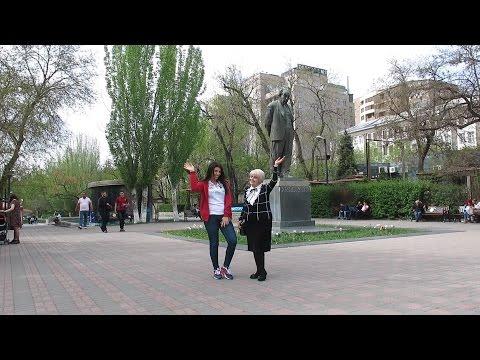 Yerevan, 23.04.17, Su, Video-1, (на рус.), От памятника Исаакяну до Московского озера
