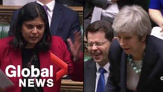 Brexit: Theresa May's response to 'premature parliamentary ejaculation' leaves MPs laughing