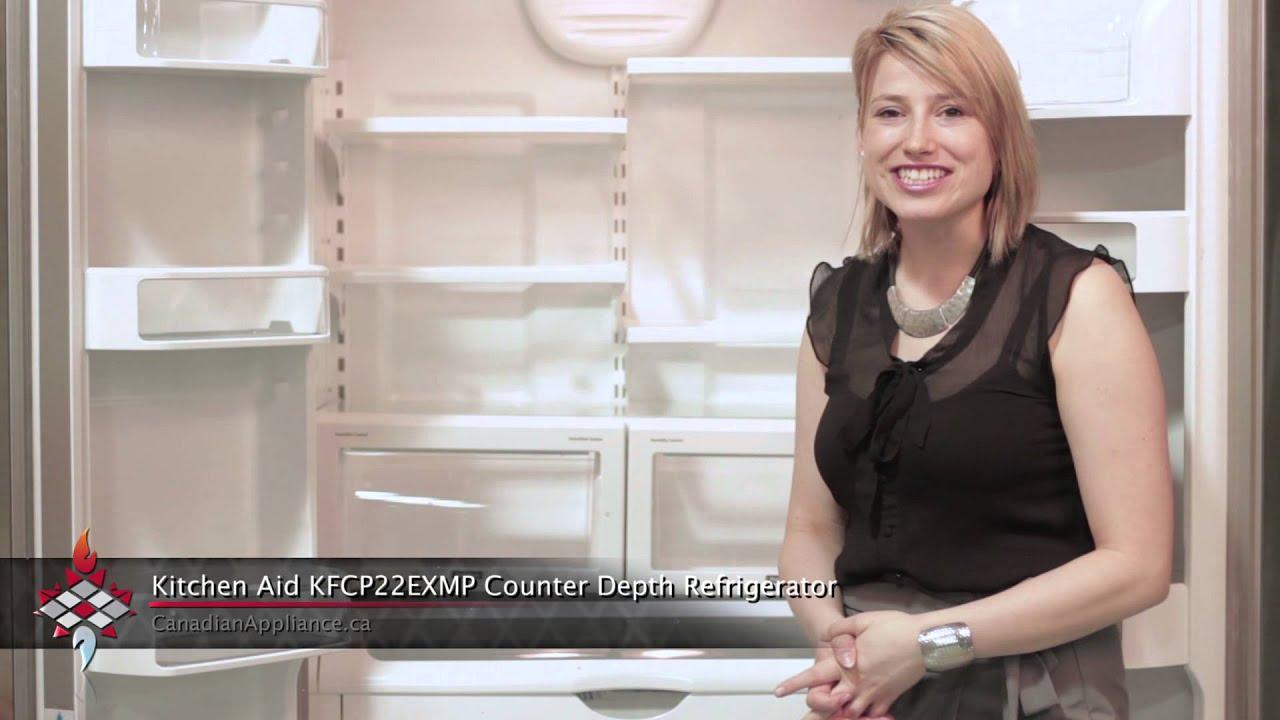 Marvelous Kitchen Aid KFCP22EXMP Counter Depth French Door Refrigerator