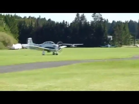 North American Aviation T-28 Trojan Flying Display at German Airshow