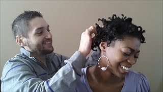 4C Natural Hair - Husband Does My Twistout! (results) Part 2- NaturalMe4C