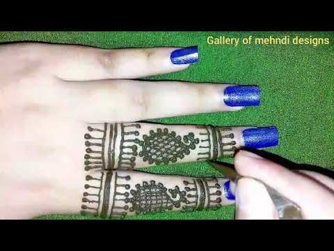 Easy & simple stylish mehndi design tutorial ll by Gallery of mehndi designs thumbnail