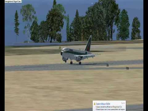 Flight simulator X Compilation of Land in nice cote d'azur airport