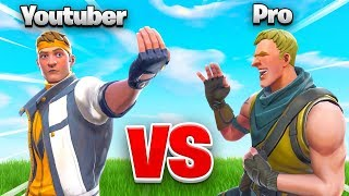 YOUTUBER vs. PRO In Fortnite... WHO WINS?!?