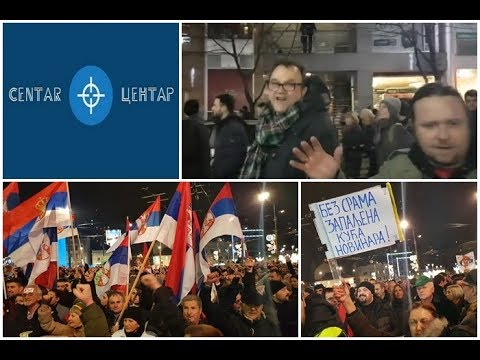CEO PROTEST OPOZICIJE  29.12. (Marko Vidojković, Nenad Kulačin, Dejan Petar ...)