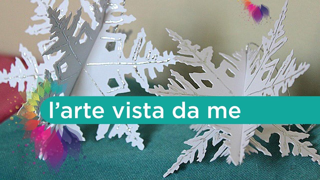 Fiocchi Di Neve Di Carta Da Ritagliare Tutorial : Fiocchi di neve d con deco foil icraft termoweb snowflake diy