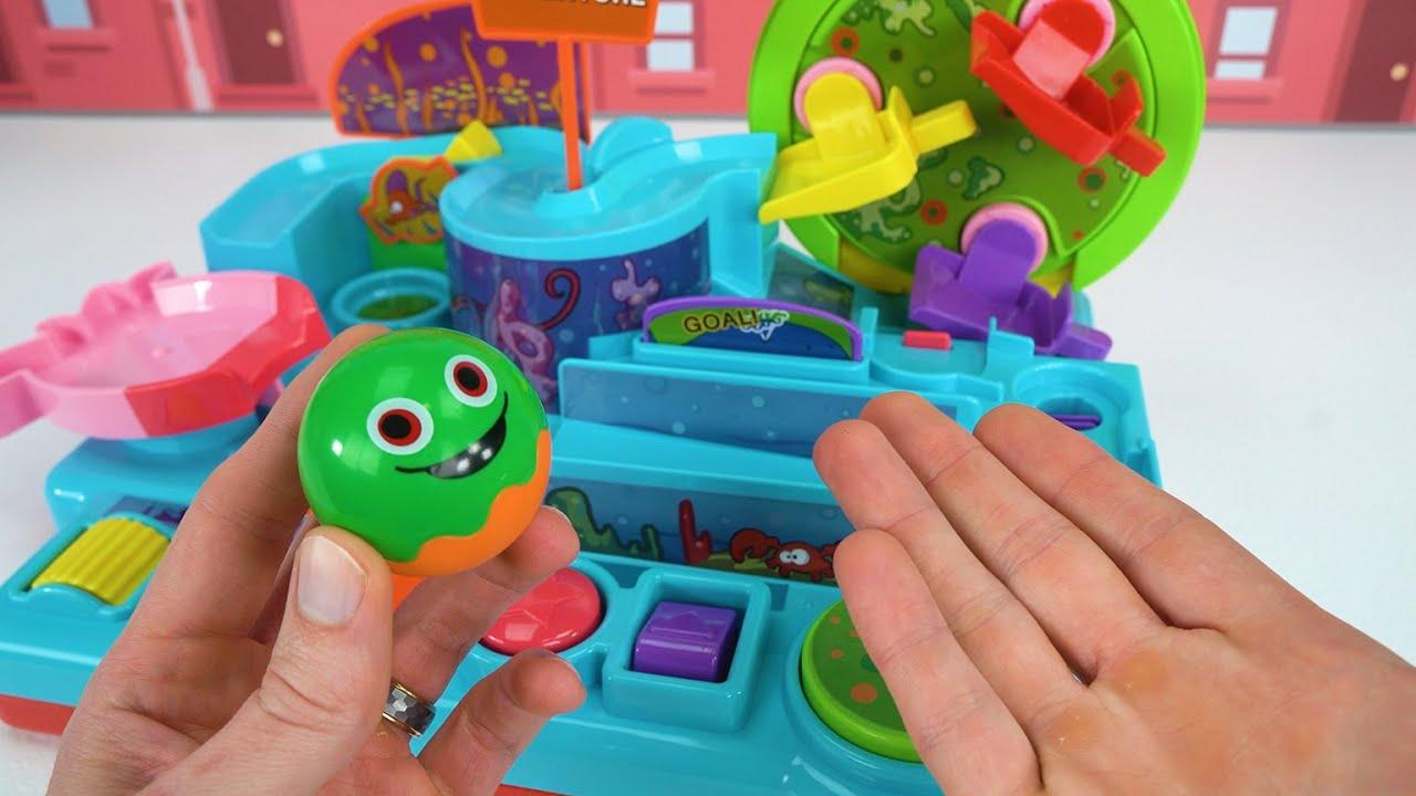 टॉडलर्स और बच्चों के लिए महान खिलौना बॉल टॉय लर्निंग पहेली!