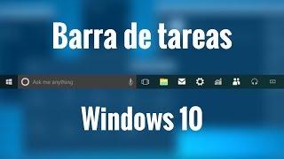 Configurar barra de tareas de windows 10 en español