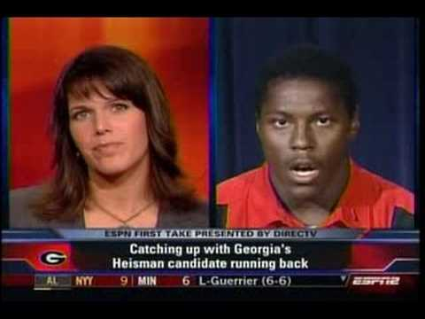 Knowshon Moreno interview First Take Aug 13,2008
