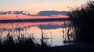 закат на озере Сингуль