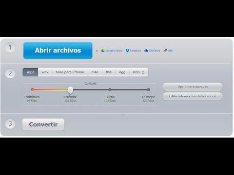 Convertir Archivos De Audio Sin Instalar Ningún Programa