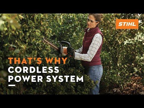 The STIHL COMPACT cordless garden tools