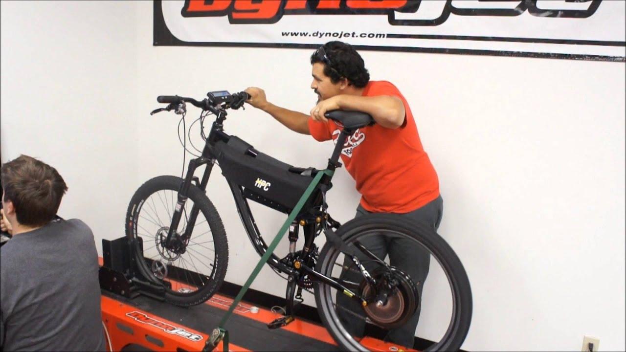 HPC 2015 XC-2 Electric Bike Dyno 5000W! 50+ MPH Lithium E-bike
