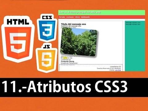 Curso de HTML5 esencial - Atributos CSS3 (Sombras en texto, imágenes )