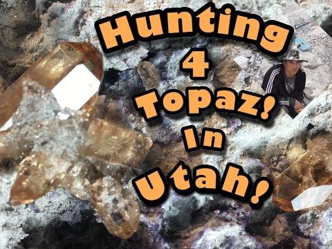 Amazing topaz specimens found @ Topaz Mountain Adventures in Delta, Utah - America Ep 5 - 5/6/2016